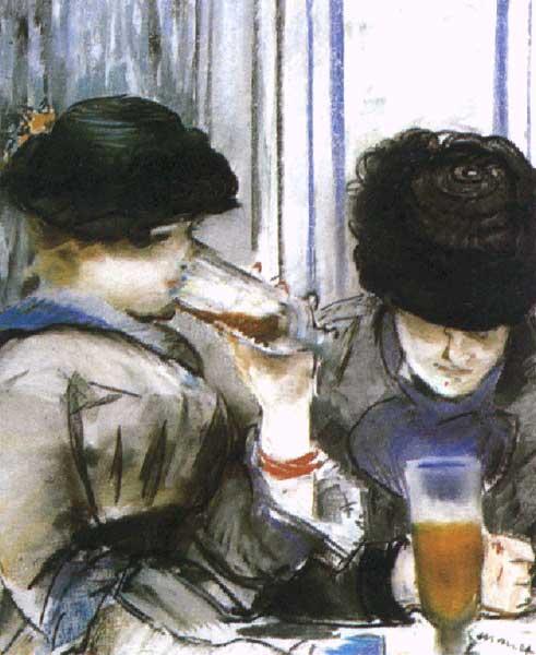 Две девушки пьющие пиво 1978г