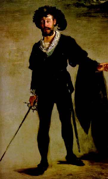 Фор в роли Гамлета, 1877г.